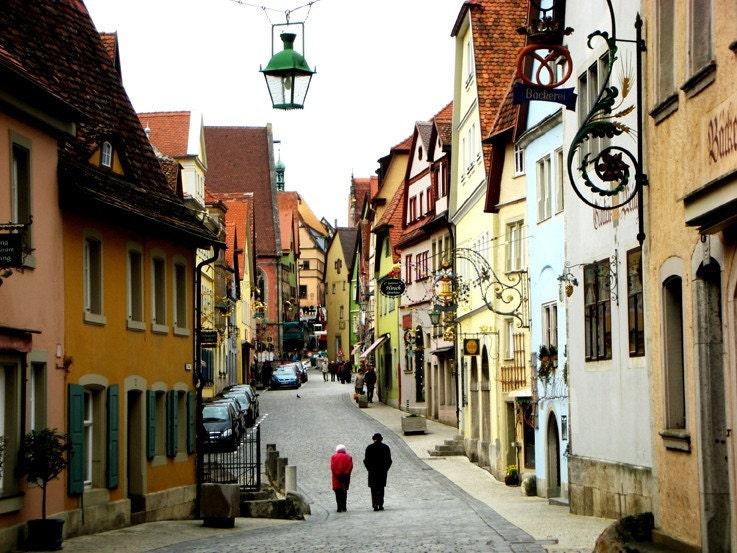 german village fine art travel photo of a german town in