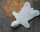 On the geeky side - needle felted polar bear skin