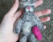 Mr Rabbit - a needle felted villain