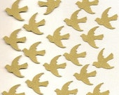 100 gold metallic dove die cuts/embellishments