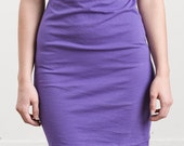 Beautiful 100% Cotton T-shirt dress Purple & Brown Hooded Halter Top size Small