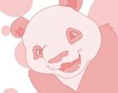 Happy Panda - 8x10 Art Print -