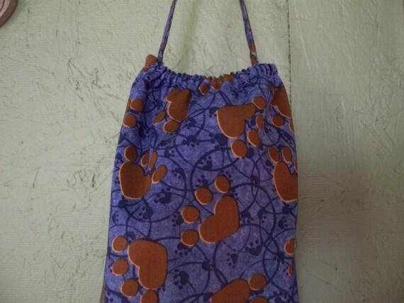 Plastic Grocery Bag holder paw print
