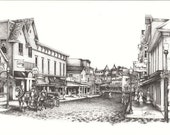 Mackinac Island Streets- Limited Edition Art Print Lithograph
