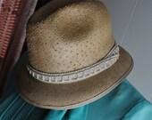 Womens Vintage Cloche Straw Hat