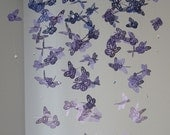 Chandelier Monarch Butterfly Mobile - purple, girl room mobile, nursery mobile, baby girl mobile, photo prop