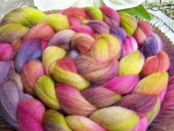 Bali Watercolor Daylily-4 ounce Merino/Silk