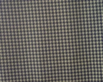 SALE       Bright Yellow and Black Houndstooth Check Pattern Fabric