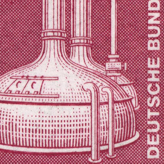 Brewery Tanks - 10x8 Mounted Canvas Print - Deutsche Bundespost