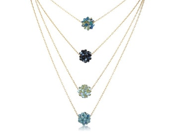 Crystal Cluster Necklace - Choose Your Color
