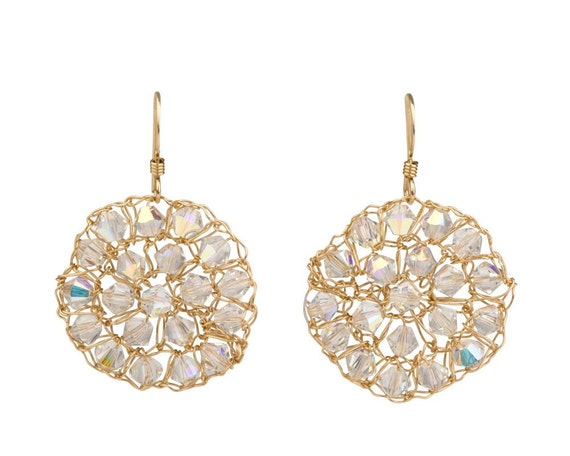 Crystal Earrings -  Swarovski Crystals and 14K Gold filled