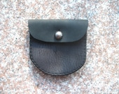 Black Leather Wallet Coin Bag