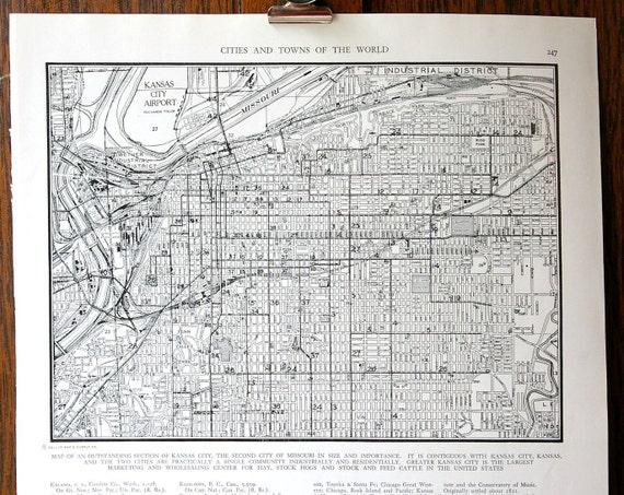 1946 Street Map of Kansas City