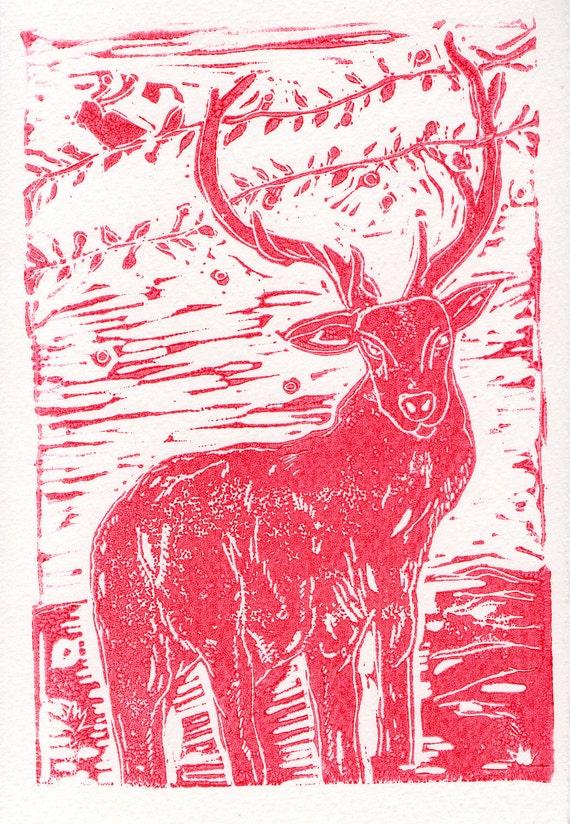 Emperor Deer British Wildlife Print- Home Decor