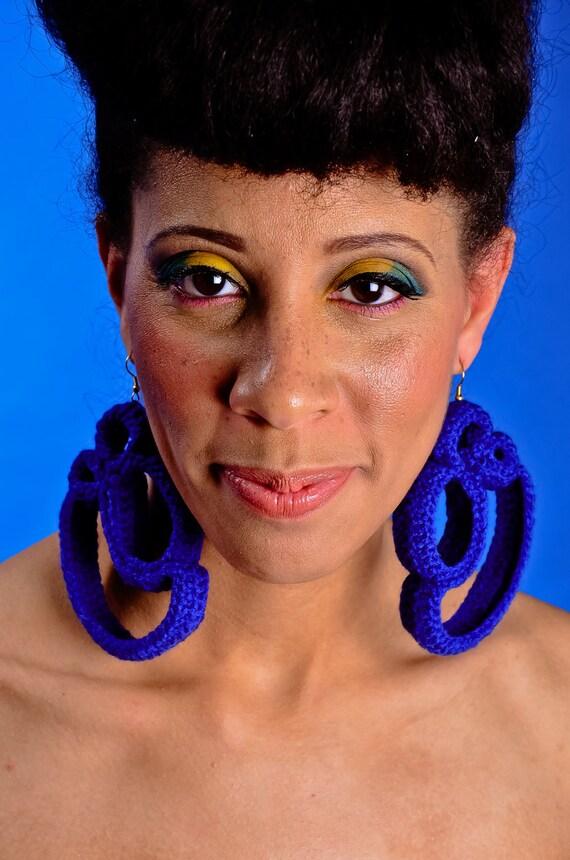 "Crochet earrings "" B Royal"""