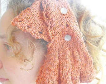 Scallop and Bell Convertible Sash Knitting PATTERN Downloadable