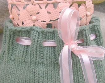 Patron en Espanol-One Skein Baby Skirt Knitting PATTERN, Cotton Lace, Size 6 Months-2 Years, PDF