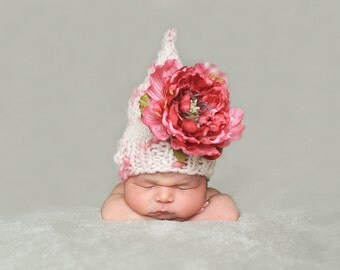 Patron en espanol- Flower Fairy Hat Pattern, the Spanish Version, for Newborn Prop