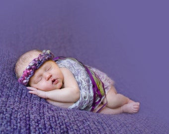 Elly Ribboned Headband Tiara PATTERN, in Super Bulky Handspun Yarn- Sizes Preemie to Adult