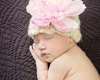 SALE-50% OFF-Newborn Hat, For Photography Prop- In Handspun Artyarn, Fairy Baby Hat