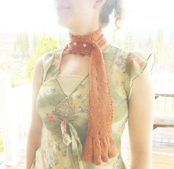 Scarf Knitting PATTERN-Scallop and Bell Sash Convertible Knitting Pattern, Pdf