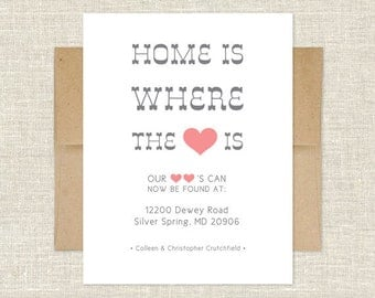 Home Is Where Our Hearts Are Change of Address Cards