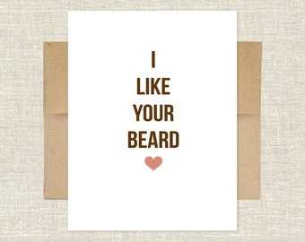 I Like Your Beard Card