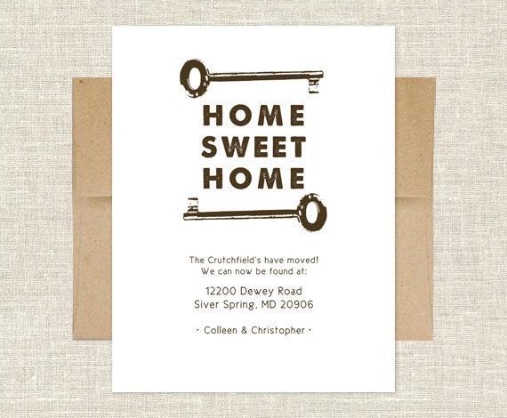 Home Sweet Home Change of Address Card