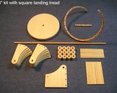 1/12 scale 8 inch Spiral staircase KIT / square landing