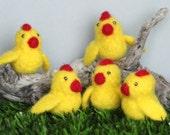 Felted Easter Chicks, set of 5