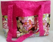 FREE SHIPPING to U.S. Residents only. Hot Pink Floral Cream Orange Green Tote Scripture Diaper Bag