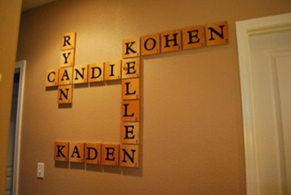 RESERVED LISTING FOR Stephanie Seale Extra Large Scrabble Name Pieces Tiles