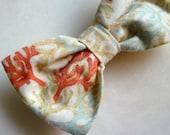 Men's Coral Bow tie -custom fit self tying