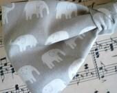 Gray Elephant Mens Bow tie - clip on