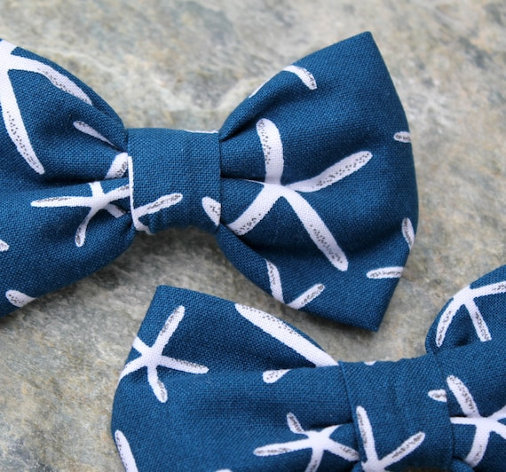 Starfish Bow Tie for Men or boys  - clip on, pre-tied with strap or self tying - freestyle - wedding bowties - ring bearer outfit