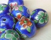 Large Ceramic Hand Painted Beads