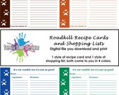 Printable Recipe Cards and Shopping List: It's not roadkill, but it's just as good.
