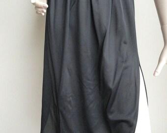 Vintage Bari Black Slip Super Side Slits Medium