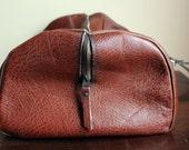 50% OFF ENTIRE SHOP: 80s Rust Leather Satchel - Gorgeous