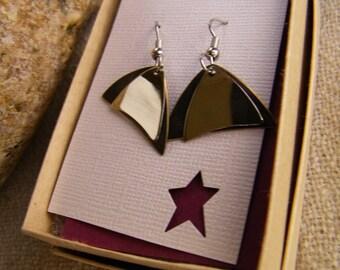 Double Arrow Earrings SHIPS IMMEDIATELY Handmade Geometric Jewelry Handcut Arrow Earrings Arrowhead Earrings Birthday Gifts for Her