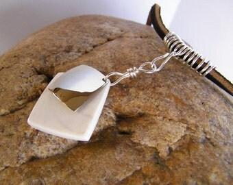 Elk Antler Necklace SHIPS IMMEDIATELY Western Elk Antler and Sterling Silver Necklace