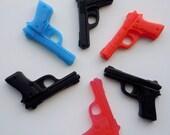 2 Pistol Soaps - You Pick ONE Scent/Color - Vegan guest bath decorative gun rifle shoot bullet