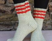 26 cm / 10,2 inches Lovely hand knitted socks, Slipper Socks, - Unisex - Size - US Men 7-7,5 Women 8,5-9 / EU 39-40