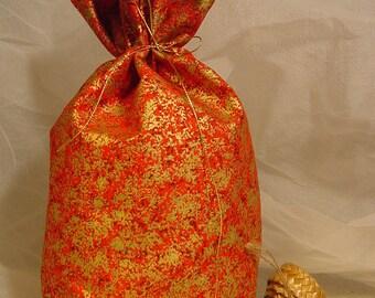Printed Fabric - Toys Bag - Christmas Gift Bag - Medium Size