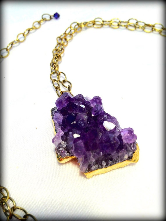Royal Amethyst Necklace - Purple and Gold