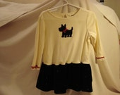 Up Cycled Scotty Dog Dress 2T