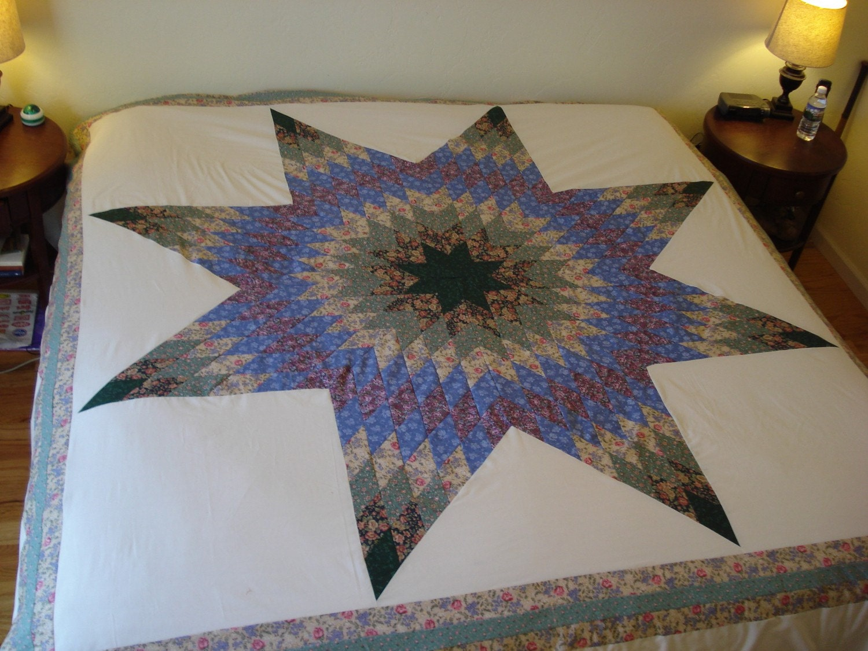 Mennonite Star of Bethlehem Quilt Top by MennoMamaCreations