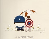 C is for Captain America print