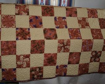 Four Patch Kaleidoscope Lap Quilt