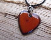 Red Enamel Heart Necklace